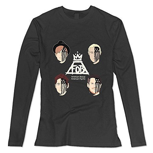SOGA Women's Long Sleeve Tees Fall Out Boy American Beauty American Psycho Size L Black (Misha Collins Merchandise compare prices)