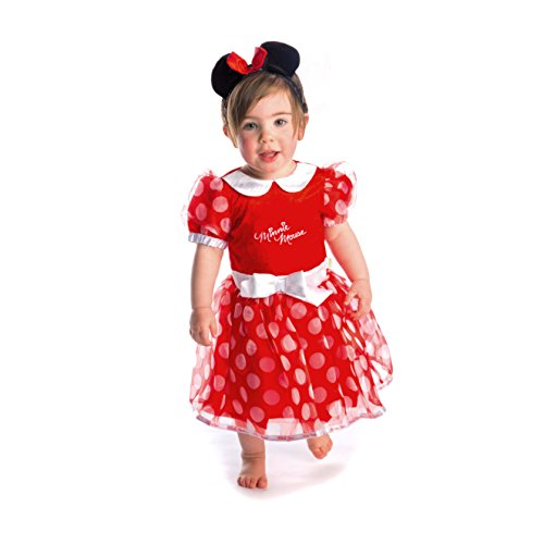 DCMIN-DRR-03 - Kostüm - Minnie Maus Kleid mit Stirnband, rot