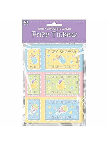 "Amscan Delightful Game Prize Tickets Baby Shower Party Novelty Favors, 9.15 x 5.6"", Multi"
