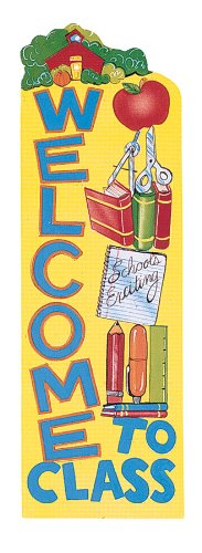 Eureka Vertical Classroom Banner, Welcome to Class, 45 x 12 Inches (849020)