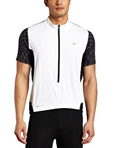 Pearl Izumi 2011 Men's Elite 3/4 Zip Short Sleeve Cycling Jersey - 11121104 (White/Black - XXL)
