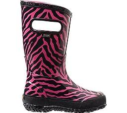 Bogs Infants/Toddlers Zebra Rainboot,Pink Multi,US 7 M
