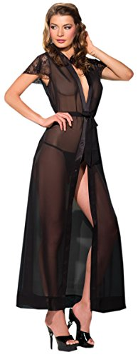 Costume Adventure Women's Black Sheer Negligee Night Gown