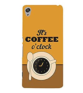 It's Coffee Time 3D Hard Polycarbonate Designer Back Case Cover for Sony Xperia XA :: Sony Xperia XA Dual