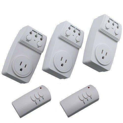 Etekcity® 3 Packs Wireless Remote Controlled Electrical Switch Socket Outlet with TWO Remote (BATTERY INCLUDED) Designed for Appliances, Lamps, Air Conditioners, or any Electrical Equipment