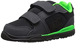 DC Forter V Youth Shoes Skate Shoe (Toddler), Dark Shadow/Black/Lime, 7 M US Toddler