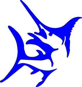 """Amazon.com: 8"""" Marlin Jumping Blue Die cut vinyl decal sticker for any"""