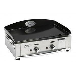 Roller grill r pl600ge plancha gaz double plaque emaill e for Plancha gaz encastrable cuisine