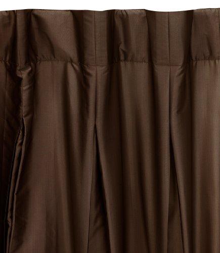 Umbra Pleatta 50-Inch-by-96-Inch Pleated Taffeta Drapery Panel, Chocolate