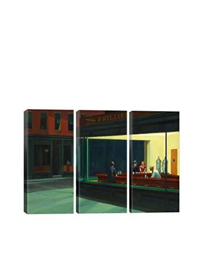 Edward Hopper Nighthawks, 1942 Gallery Wrapped Triptych Canvas Print