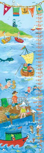 Oopsy Daisy by The Sea Boy by Sharon Furner Growth Charts, 12 by 42-Inch