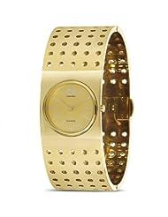 CK Calvin Klein Women's K8322209 Gold Tone Grid Watch