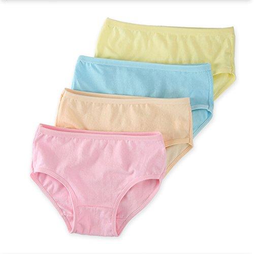 ANDI ROSE 12 pcs Cute Baby Girls Solid Color Panties Briefs Diaper Cover