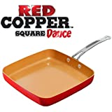 Red Copper Square Dance Non-Stick Ceramic Cookware By BulbHead
