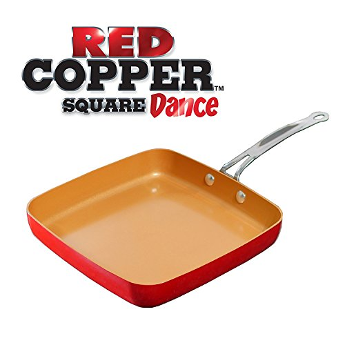 Red Copper Square Ceramic Cookware