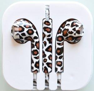 Leopard / Zebra Stripe - Headphones W/ Mic & Vol Contrl Ear Pod Ear Bud For Iphone/Ipod/Ipad