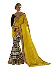 Status Yellow  Off White Color Printed Saree On Bhagalpuri Silk Fabric.