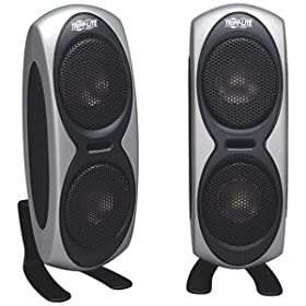 411j1CXHlAL. SL500 AA280  Tripp Lite SP5000USB Notebook/Laptop Portable Theater USB Speakers   $33 Shipped