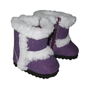 Purple Ugg-Type Boots. Fits 18