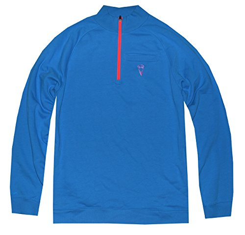 Under Armour Men Half Zip Storm Lacrosse Sweatshirt (L, Electric Blue)