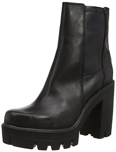 Cult Kim Mid 968 Leather, Stivaletti, Donna, Nero (Black), 37