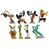 Kung Fu Panda Legends Of Awesomeness Tiny Figure Set - Set Of 8 Figures