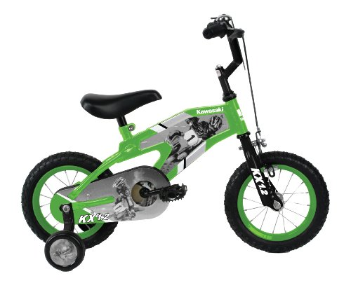 Kawasaki-Monocoque-Kids-Bike-12-inch-Wheels-8-inch-Frame-Boys-Bike-Green