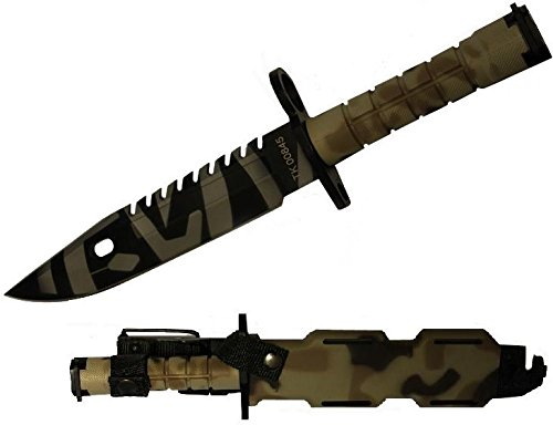 Ultimate Arms Gear Tactical Limited Edition British Multi Terrain Camo Camouflage Special Forces Series M9 M-9 Military Sawback Survival Tigerstripe