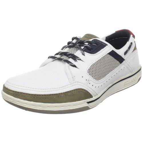 Sebago Triton Sport uomo THREE-EYE laccio semi scarpe, Boot scarpe., Bianco (bianco), 44