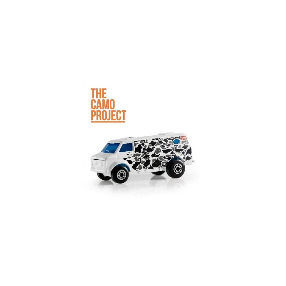 The Camo Project + Tyo Tyotoys Graffiti Art 164 Scale Diecast Matchbox Mini Van