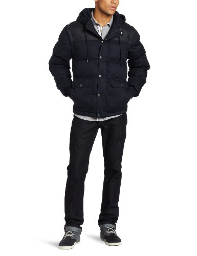 RVCA Men's Dorak Jacket, Dark Navy, Medium