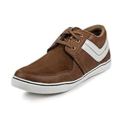 PAN Mens G06 BROWN Fabric Casual Shoe-10 UK