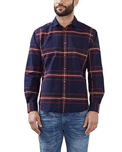 ESPRIT Camisa Hombre  Azul NO DATA IN SABLE