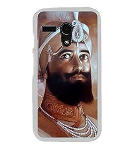 Guru Gobind Singh Ji 2D Hard Polycarbonate Designer Back Case Cover for Motorola Moto G :: Motorola Moto G (1St Gen)