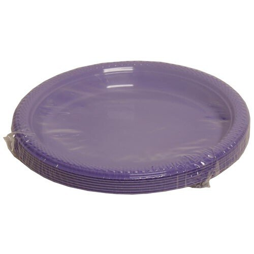 Jam Paper® - Small Round Purple Plastic Party Plates - 7 Inches - 20 Plates Per Pack