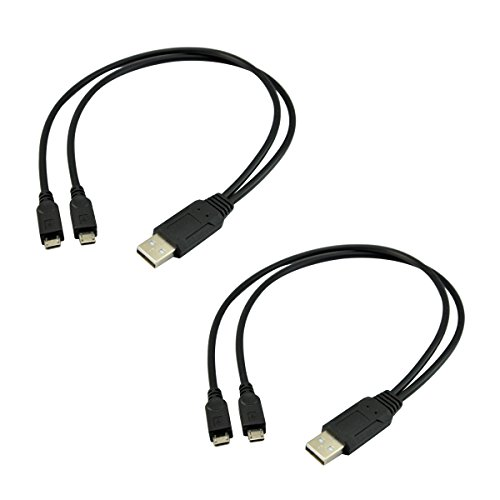 UCEC Dual Micro USB Splitter Charge Cable Power up to Two Micro USB Devices At Once From a Single USB Port (2pack) (Dual Micro Usb compare prices)