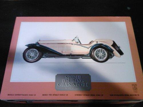 Pocher K73 Alfa Romeo Spider Touring Grand Sport 1/8 Scale Vintage Car Model Kit