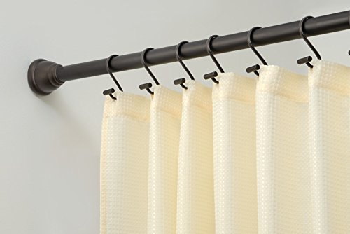 mDesign Constant Tension Bathroom Shower Curtain Rod - 50-87