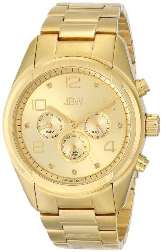JBW  J6291E - Reloj de cuarzo para hombre, con correa de acero inoxidable chapado, color dorado