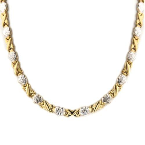 mcs-jewelry-pendientes-de-plata-de-dos-tonos-stampato-xoxo-amistad-y-relacion-collar-17-