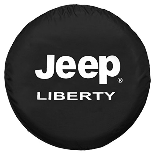 Moonet Canvas Jeep Liberty Spare Wheel Tire Cover For Jeep, Black,R16 (79cm/31.1inch) (Blackhawks Spare Tire Cover compare prices)