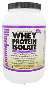 Bluebonnet Nutrition 100% Natural Whey Protein Isolate Powder French Vanilla Flavor 2 LB