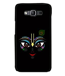 printtech Lord Krishna Beautiful Eyes Back Case Cover for Samsung Galaxy On5 Pro