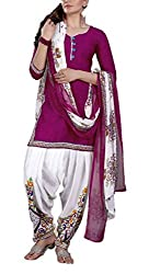 Mashuka Simran Women's Synthetic Unstitched Dress Material(D-No-5576_Pink_Free Size)