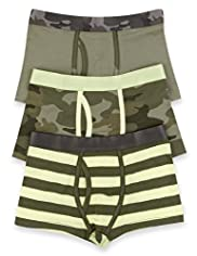 3 Pack Cotton Rich Camouflage Trunks