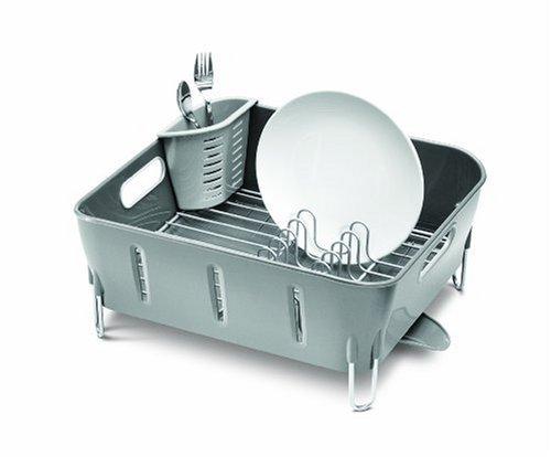 simplehuman Compact Dish Rack, Grey Plastic (Simplehuman Dish Drying Rack compare prices)