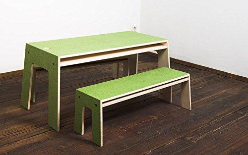 Perludi Oskar at Work – grün – SET 1 Tisch + 1 Bank jetzt kaufen