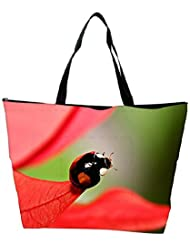 Snoogg Beatel On Red Leaves Designer Waterproof Bag Made Of High Strength Nylon