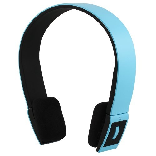 Chromo Inc® SMOOVE Series Stereo Bluetooth Wireless Headphones with Microphone (Blue)