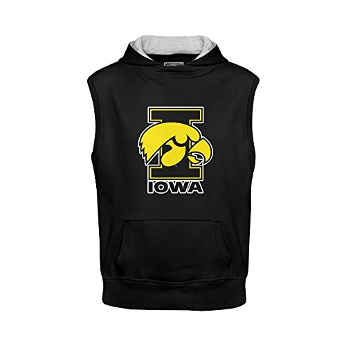 Burrows Custom Iowa Hawkeyes Men's Sleeveless Hoodie Sweatshirt Black (Squamish Hooded compare prices)